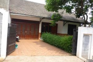 Rumah dengan halaman luas, dekat exit tol Brigif, pinggir jalan, Gandul