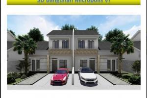 Rumah Baru 2 Lantai Minimalis Terjangkau di Pondok Petir Pamulang
